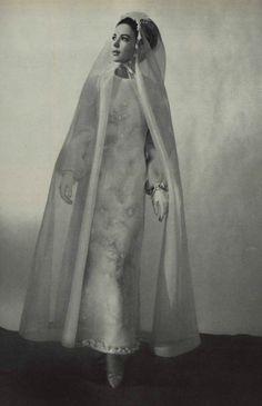 1965 Dior wedding dress and veil.