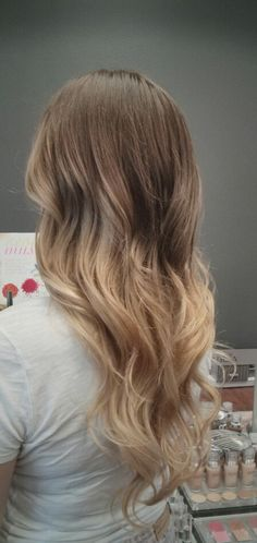 Brown to Blond Ombre