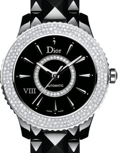 CD1245E2C001 0000 часы Dior VIII 38 mm black ceramic diamond