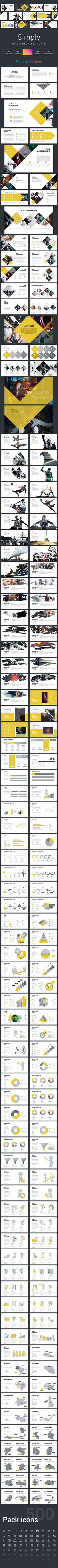 Simply Pitch Deck Powerpoint Template - Pitch Deck PowerPoint Templates