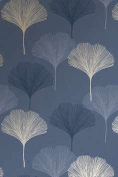 I LOVE WALLPAPER Gingko Leaf Wallpaper Navy. Keep up with Trends by following us on Pinterest. #ilovewallpaper #Wallpaper #2019hometrends #Interiordesign #Home Navy Wallpaper, Framed Wallpaper, Textured Wallpaper, Pattern Wallpaper, Geometric Background, Background Patterns, Leaf Design, Wall Design, Pillow Texture