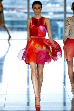 Erjona Ala walking Matthew Williamson Spring '13 RTW #runway #fashion