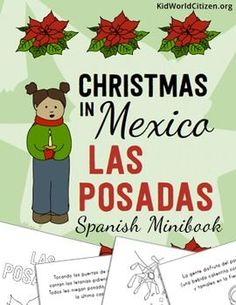 Christmas Around the World ~ Las Posadas Spanish Language Minibook. This Spanish minibook about Las Posadas in Mexico fits perfectly in a unit on Christmas around the world, or stands alone as a Hispanic culture lesson on Las Posadas!