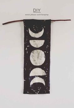 Create a dreamy wall hanging featuring the phases of the moon.
