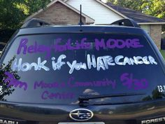 Now that is Relay spirit! Next year all the committee and team captains cars....