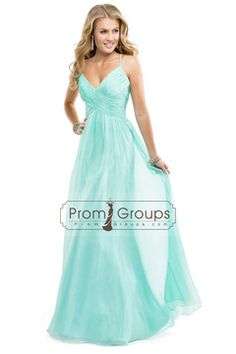 Hot Selling Prom Dresses Spaghetti Straps Chiffon A-Line Spaghetti Straps With Cross Back USD 178.49 PGPM1T7QT7 - PromGroups.com