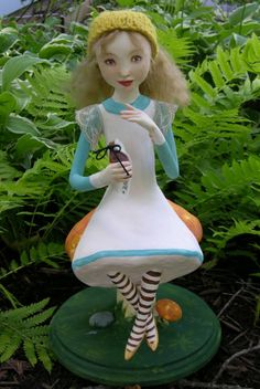 Alice in Wonderland Art Doll by Sarah Pogue of ArchetypalTheatre on Etsy