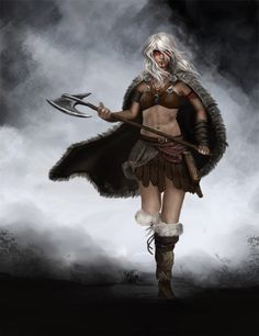 Barbarian Picture  (2d, fantasy, girl, woman, barbarian)