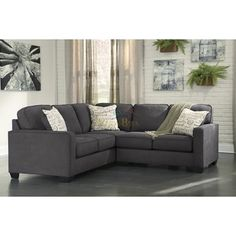 Signature Design Alenya 16601 2 pc Sectional (Sectionals - Stationary)