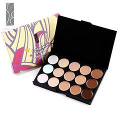 Professional 15 Colors Concealer Cream Bronzer Palette | eBay