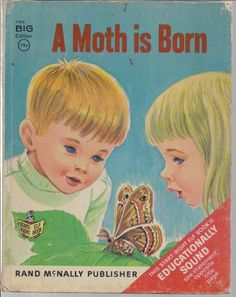1967 A Moth Is Born -Vintage Rand McNally Childrens Book