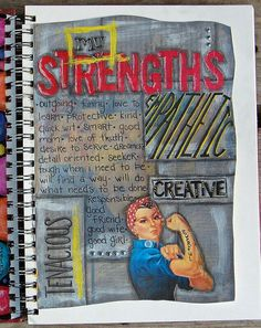My Strengths- art journal page