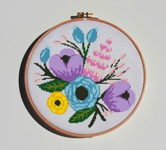 Amazing Flowers, Peonies, Cross Stitch Patterns, Baby Gifts, Watercolor, Sewing, Unique Jewelry, Handmade Gifts, Couture