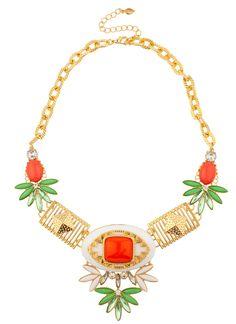 Shop Prima Donna - Tahitian Stone Collar Coral at Prima donna
