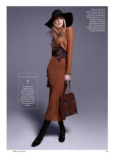 Heather Marks for ELLE Germany February 2015 MAX MARA