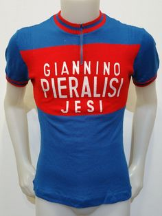 c56205cf7 MAGLIA SHIRT CICLISMO VINTAGE GIANNINO PIERALISI JESI TG.48 CYCLING EROICA  V24