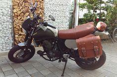 a7416834cc YAMAHA XT 660 SUPERMOTARD scrambler - Franco Cuoio - Borse per Harley,  Triumph.