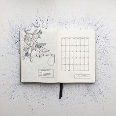 """Polubienia: 2,164, komentarze: 40 – Federica (@feebujo) na Instagramie: """"My Bullet Journal is ready for February, and yours? ⭐️"""""""