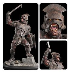 Lord of the Rings Uruk-Hai Swordsman 1:6 Scale Statue