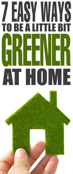 7 Easy Ways to be a Little Bit Greener at Home - simple ideas to be more eco-friendly in your life. Your family can go green with little effort! Green Life, Go Green, Sustainable Building Materials, Sustainable Architecture, Sustainable Living, Sustainable Energy, Earth Bag Homes, Eco Friendly Cleaning Products, Green Living Tips