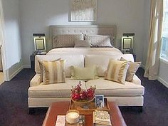 nate berkus design- For those who have a big bedroom, divide it into two rooms for mutli-functions.