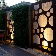 Cool Fences for Your Yard and Garden...I love metal sculptures and such like that.