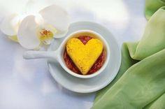 Polenta de coração no molho de tomate!