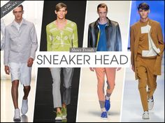 Colorful #sneakers are a style staple for SS'14 and match very well with #casual attires. Read more on AMD Mode! #Menswear