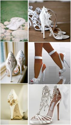 4e5af12a2b1584 20 White Wedding Shoes Brides Wish They Wore at Their Wedding