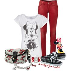 """""""Minnie Mouse"""" by kellylynne68 on Polyvore"""
