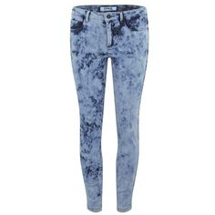 ONLY Women's Royal Acid Wash Skinny Jeans - Denim ($22) ❤ liked on Polyvore featuring jeans, pants, bottoms, blue, cut skinny jeans, skinny fit jeans, 5 pocket jeans, only jeans and acid wash skinny jeans