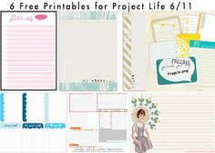 6 Free Printables for Project Life 6/11