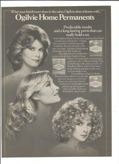 1981 Ogilvie Home Perms Advertisement 80s Permanent by fromjanet