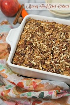 This scrumptious Morning Glory Baked Oatmeal from CookingInStilettos.com is a…
