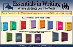 Essentials in Writing Full Curriculum for grades 1-12