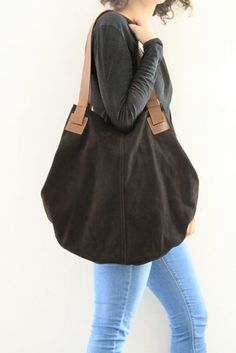 Grande vera pelle scamosciata SHOULDER BAG NAPPA Crossbody da Donna Designer Slouch Fringe