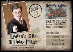 15 Custom Harry Potter Birthday Party Invitations por NuanceInk, $15.00