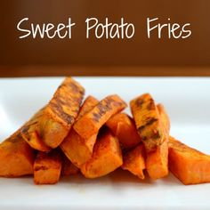 You have to try these sweet potato fries! They're so good, and they're healthy too. Recipe from Real Food Real Deals. Gourmet Recipes, Whole Food Recipes, Vegan Recipes, Cooking Recipes, Side Recipes, Delicious Recipes, Healthy Cooking, Healthy Snacks, Healthy Sides