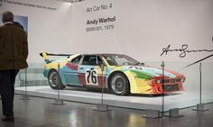 """The """"art car"""" Andy Warhol painted for BMW - 1 of 17 race cars painted by various artists"""
