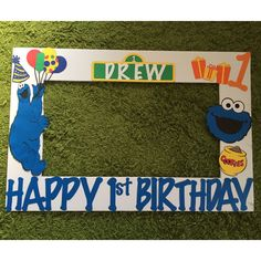 A personal favorite from my Etsy shop https://www.etsy.com/listing/270425833/cookie-monster-photo-frame-prop