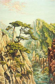 Airy mountains of China Painting: oil on canvas 60 x 40 sm