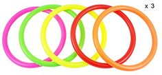 Fushing Multicolor Plastic Toss Rings for Kids Ring Toss Game, Speed and Agility Training Games,Carnival Garden Backyard Outdoor Games,Bridal Shower Game,Game Booth Ring Game, Ring Toss, Kids Rings, Small Rings, Neon Carnival, Game Booth, Tr 4, Forever Brilliant Moissanite, Agility Training