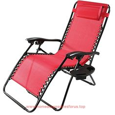 Sunnydaze Red Oversized Zero Gravity Lounge Chair With Pillow And Cup  Holder BUY NOW $99.99 This Oversized, Outdoor Zero Gravity Chair Has All  The Features ...