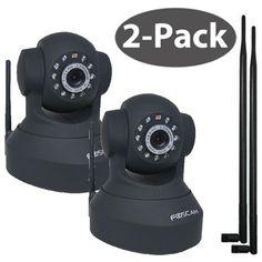 Foscam FI8918W Black w 9dBi Antenna 2 Pack @ $132.