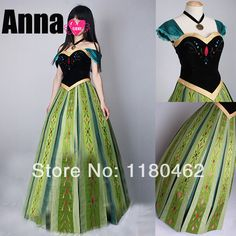 frozen party  elsa cosplay adult princess anna coronation ball gown dress kigurumi halloween clothing set carnival costume-in Costumes & Acc...
