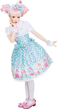 "Ama (Japanese derivative of ""amai""/sweet) Lolita and Kotekote or OTT (Western for: over-the-top) sweet Lolita."