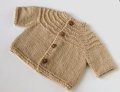 Ravelry: Baby Boy 5-Hour Sweater pattern by Gail Bable free pattern. Working on this right now!! So easy and so fun!!
