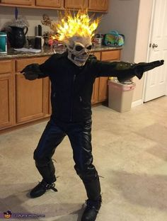 Halloween ghost rider makeup easy costume and make for kids ghost rider halloween costume contest at costume works solutioingenieria Gallery