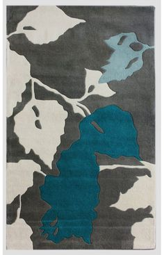 Rugs USA Satara Leaves Blue Rug | Cut down on floor noise. Insulate living area more.