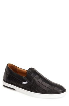 Jimmy Choo 'Grove' Croc Embossed Slip-On available at #Nordstrom